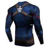 marvel captain america compression shirt long sleeve