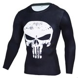 long sleeve punisher compression shirt