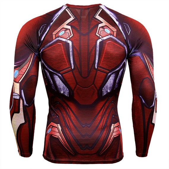 long sleeve iron man gym shirt