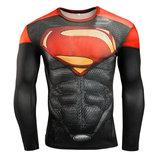 Moisture wicking superman fitness shirt
