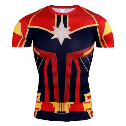 red captain marvel costume t shirt
