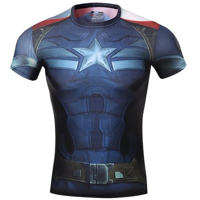 captain america winter soldier short sleeve athletic shirt