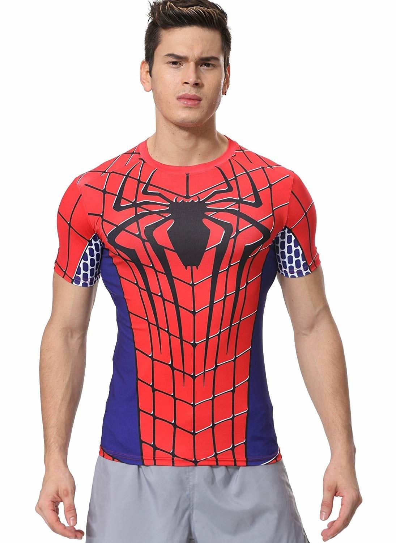 Spiderman Costume T Shirt Short Sleeve