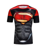 superman logo t shirt black and red