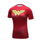 Wonder Woman T Shirt For Womens Red