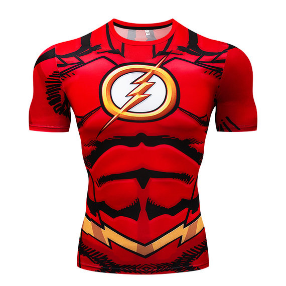 dri fit the flash tv shirt red