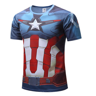 Captain America Civil War Dri Fit Workout T Shirt