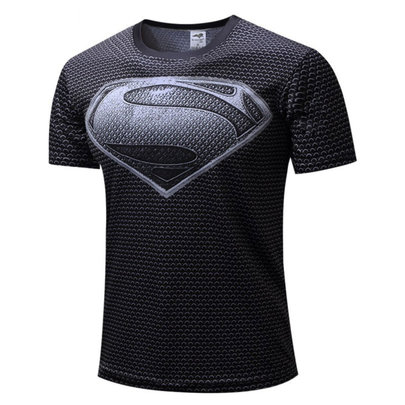 grey superman t shirt mens