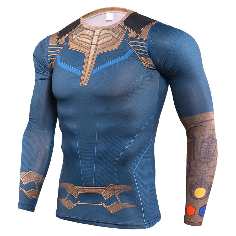 Long Sleeve DC Marvel Avengers Endgame Thanos Workouts Shirt