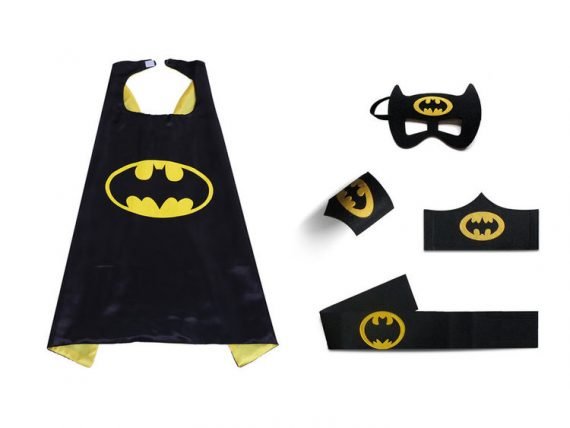 yellow batman cape and mask for childrens