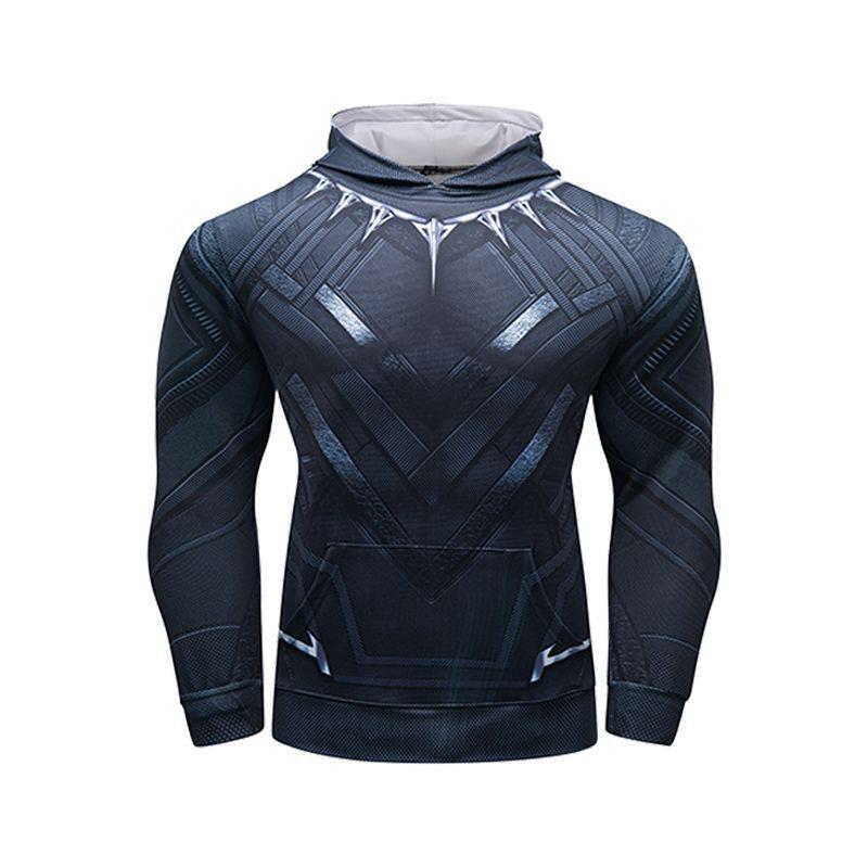 Long Sleeve Pullover Marvel Superhero Black Panther Hoodie