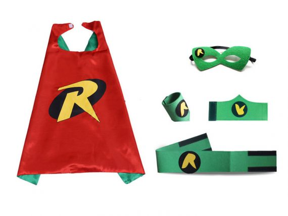 red robin hood cape and mask sets for kids