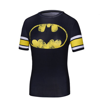 short sleeve dri fit slim batman logo shirt for girls