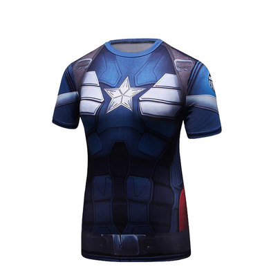 girl short sleeve captain america dri fit t shirt