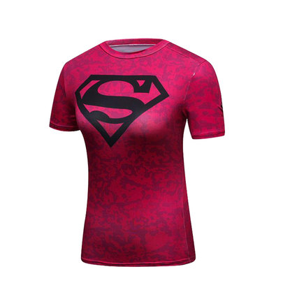 womens superman t shirt costume short sleeve