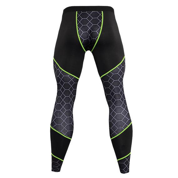 men's green training joggers