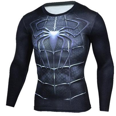 dri fit Black Spiderman Long Sleeve Shirt