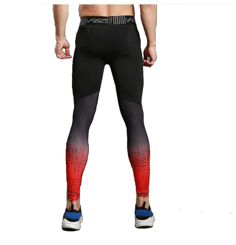 mens red tight running pant