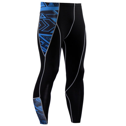 blue compression pants