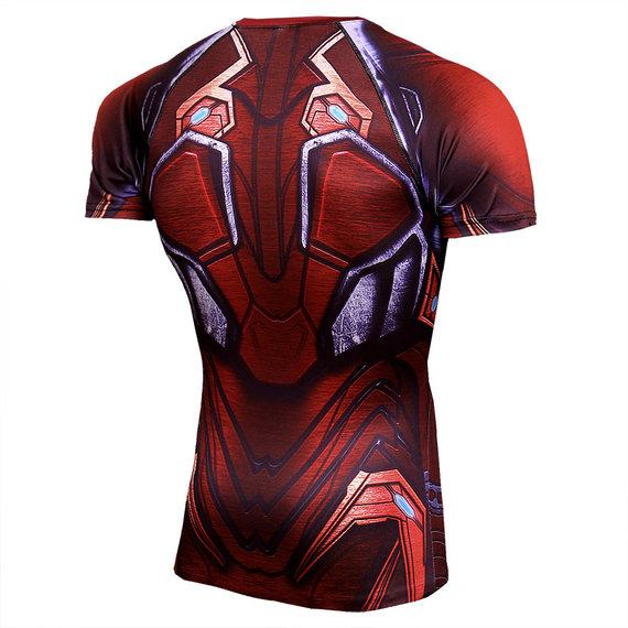 Dri Fit Marvel Infinity War Red Iron Man Running Shirt Short Sleeve