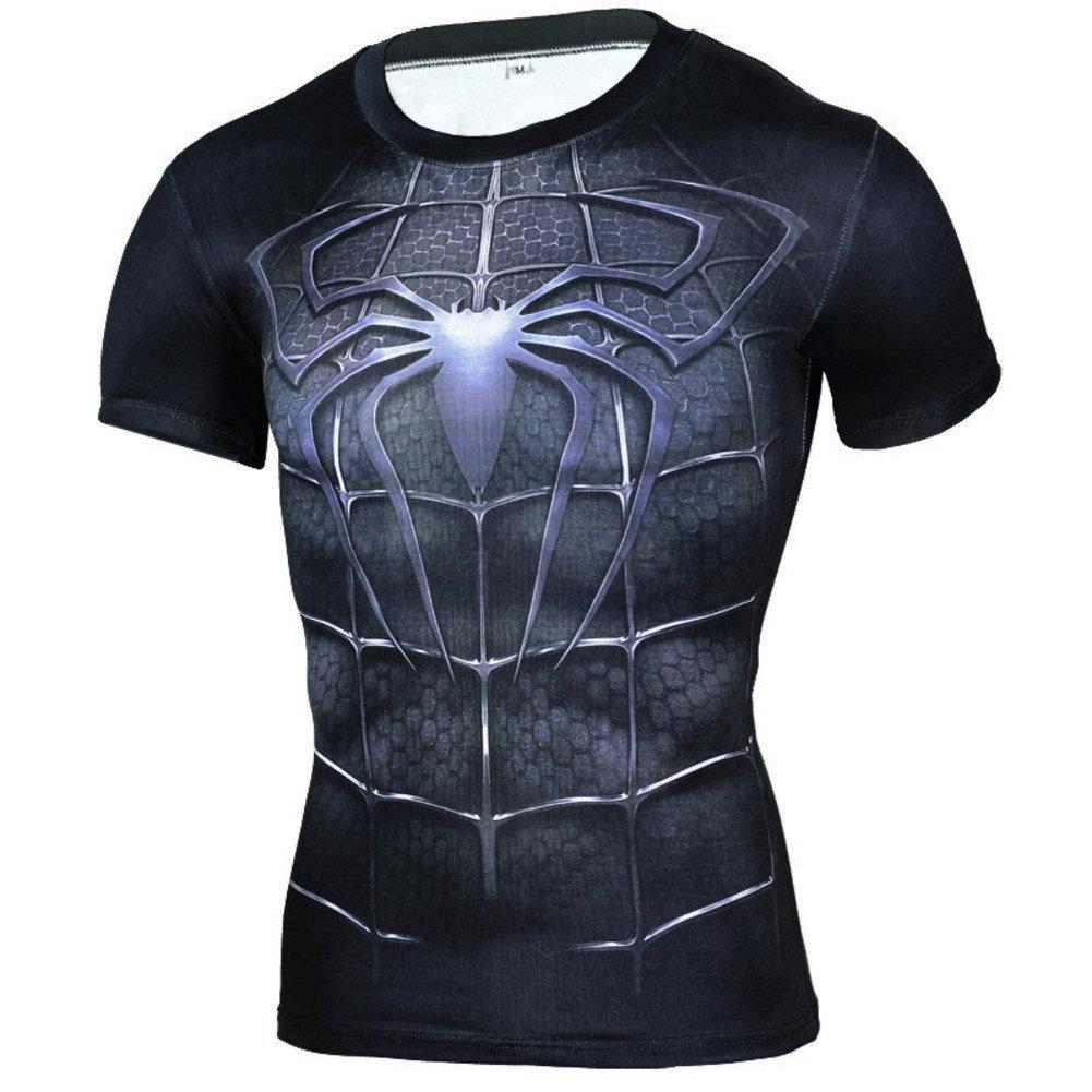 Dri Fit Black Spiderman Workout Shirt