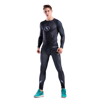 The Black Flash Compression Shirt And Pant For Mens