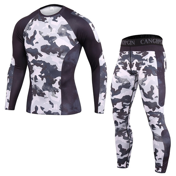 athletic cut t shirt and compression tight