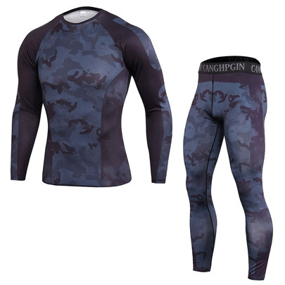 men's long sleeve gym workout t shirt & seamless workout leggings