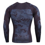 men's long sleeve mens fitted gym t shirts & seamless workout leggings