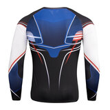 men's long sleeve skin fit t shirts for gym & printed tights