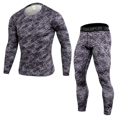 men's training t shirt long sleeve & activewear leggings camo