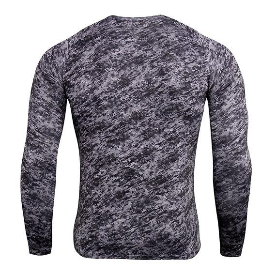 men's long sleeve fitness compression shirt & activewear leggings camo