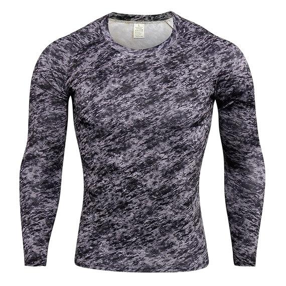 men's body slimming undershirt long sleeve & activewear leggings camo