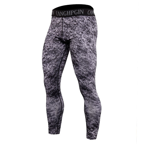 men's long sleeve skin fit t shirts for gym & activewear leggings camo