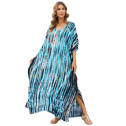 Women's Summer Beach Vacation Swimsuit Cover Up Plus Size Casual Resort Dresses,Free Size