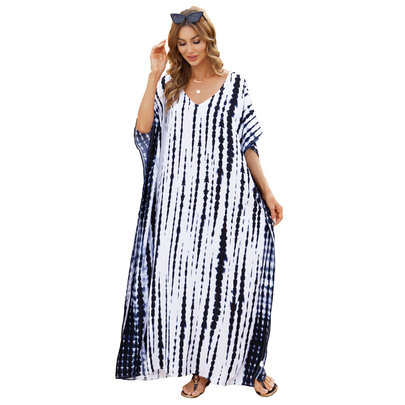 Women's Summer Beach Vacation Swim Cover Up Plus Size beach wear Long,Free Size