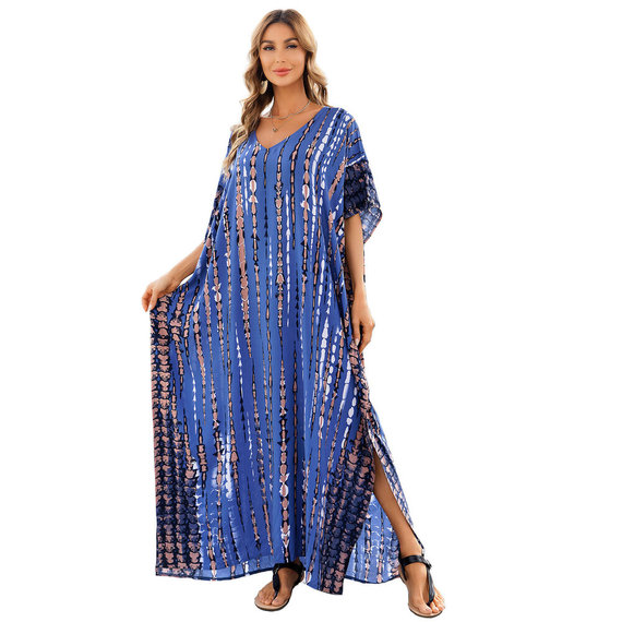 Women's Summer Beach Vacation Swimsuit Cover Up Plus Size lightweight summer dresses,Free Size