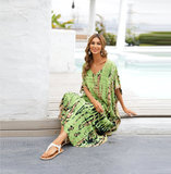 Ladies Summer Beach Vacation Swimsuit Cover Up Plus Size Lightweight summer dresses with sleeves