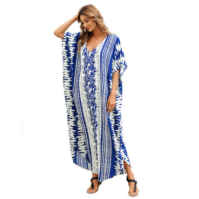 Women's Plus Size Swimsuit Cover Up Lightweight Summer Dresses,Free Size