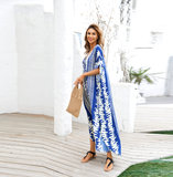 Women's Plus Size Swimwear Cover Up Summer Dresses With Sleeves,Free Size