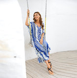 Women's Plus Size Beach vacation Swimsuit Cover Up maxi sun dresses long,Free Size