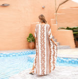 Ladies Plus Size Swimwear Cover Up Summer Dresses With Sleeves,Unisize