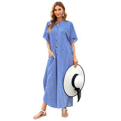 Ladies Long Swim Cover Up beach Plus Size vacation dresses,Unisize