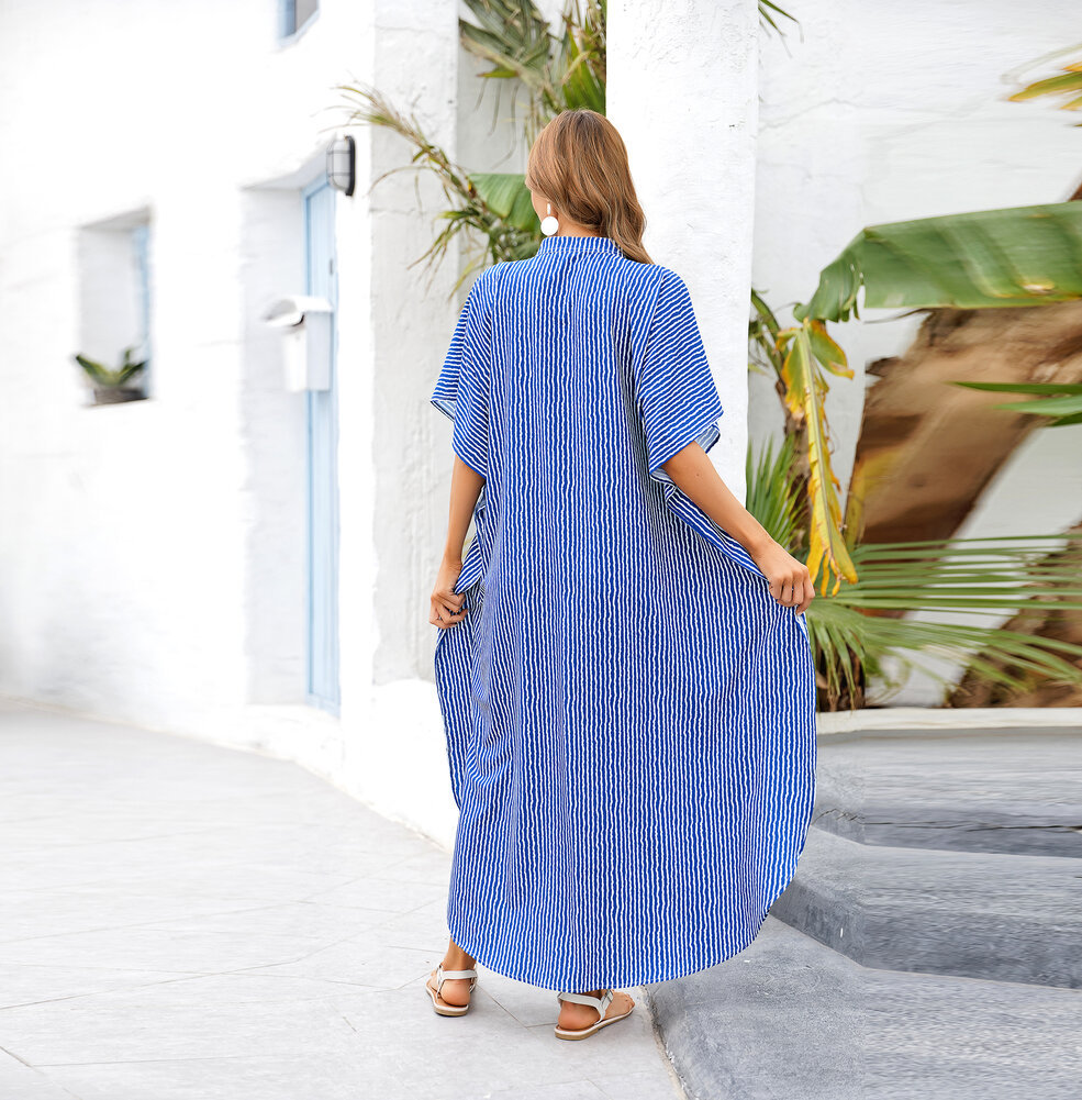 Ladies Long Swimsuit Cover Up Plus Size Casual resort dresses,Unisize