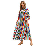 Plus Size Summer Beach vacation Swimsuit Cover Up For Women's beach resort wear dresses