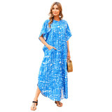 Plus Size Summer Beach vacation Swimsuit Cover Up For Women's tropical beachwear clothing
