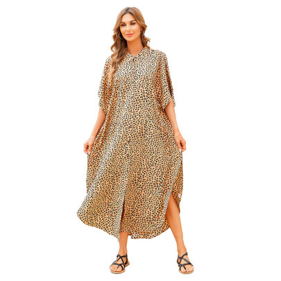 Plus Size Summer Beach vacation Swimsuit Cover Up For Ladies beach resort wear dresses,Free Size