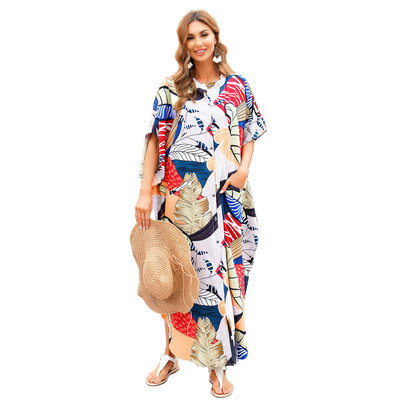 Swimsuit Cover Up For Women's Plus Size maxi sun dresses,Free Size