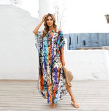 Long Summer Swimsuit Cover Up Plus Size Ladies Casual resort dresses,Unisize