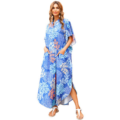 Women's Bikini Cover Up Plus Size beach vacation dresses,One Size Fit All